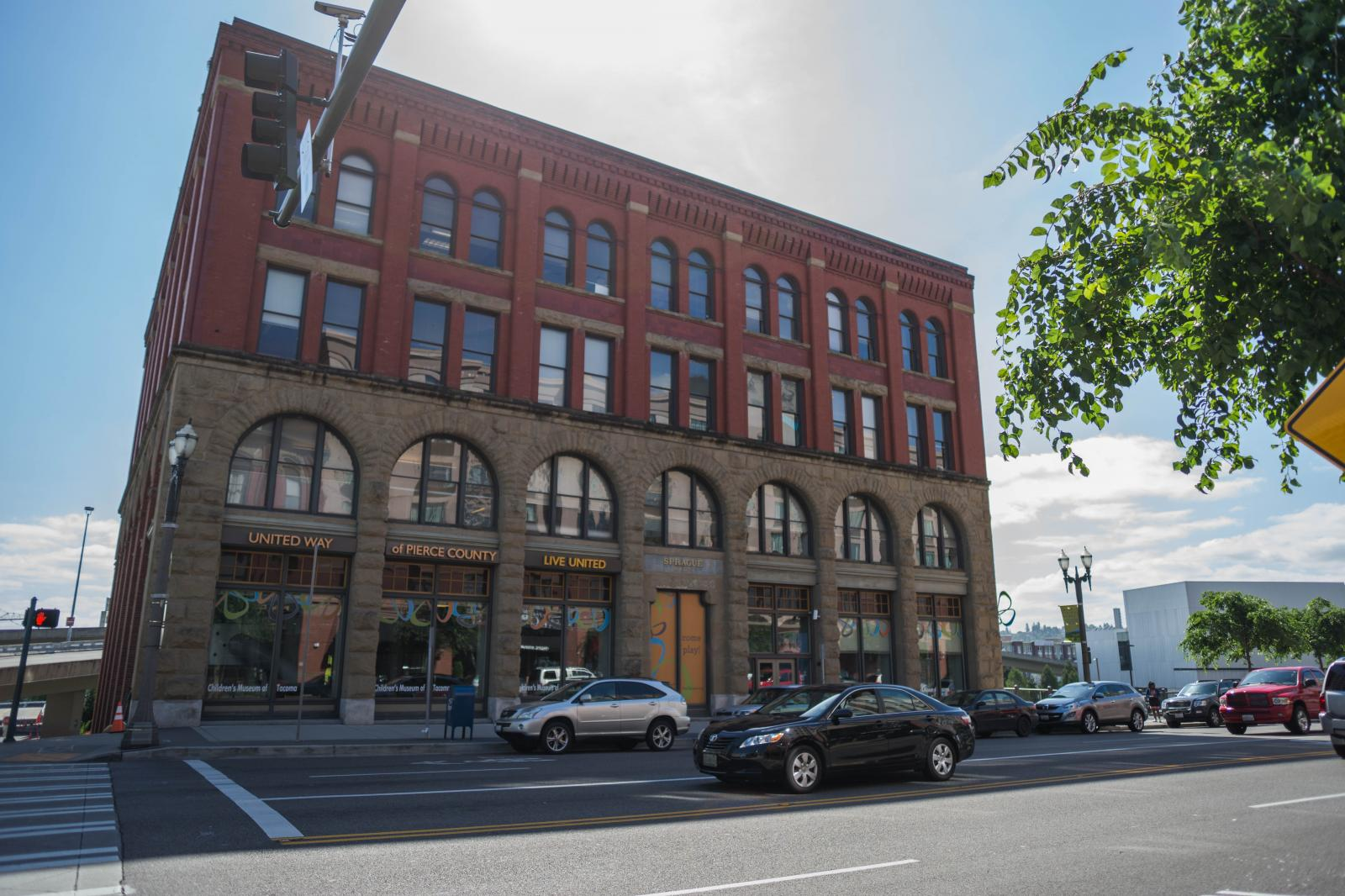 Sprague Building, a four story historic warehouse now housing the Tacoma Children