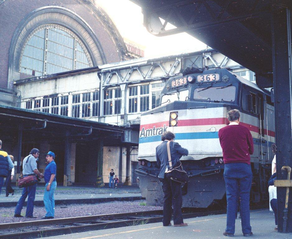 For fourteen years, Union Station served as a passenger hub for Amtrak, but that ended in 1984 (Photo by Jim Fredrickson, used with permission from Pacific Northwest Railroad Archive).